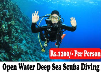 Open water Deep Sea Scuba Diving